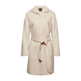 Women Collection coat met ceintuur beige