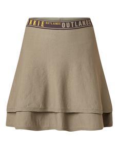 Jala gelaagde A-lijn rok met logoband