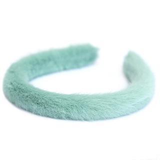 Haarband faux fur mint