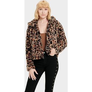 Mandy Faux Fur Jas voor Dames in Leopard Amphora