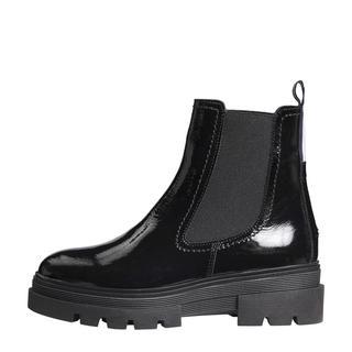 lakleren chelsea boots zwart