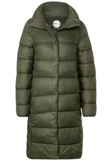Lange mantel met wattering