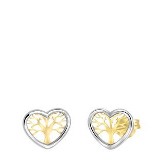 9 karaat oorbellen hart levensboom