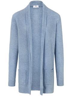 Vest van 100% scheerwol-merinos blauw