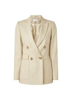 Larsson double-breasted blazer in wolblend