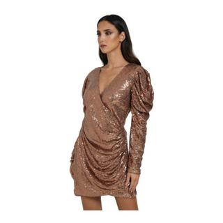 Long Sleeve Dress With Sequins