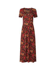 Maxi jurk met V-hals en bloemenprint
