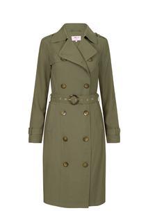 Dames Trenchcoat groen