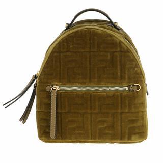Rugzakken - FF Monogramme Mini Backpack in groen voor dames
