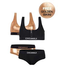 Dames 1-pack racerback bikini effen