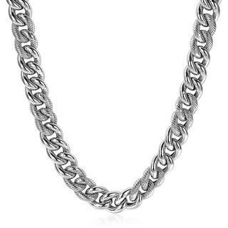 zilveren gourmet collier bewerkt 10mm breed 45cm ZIC1924