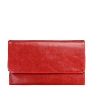 Portemonnee van leer, rood. Australisch ontwerp.
