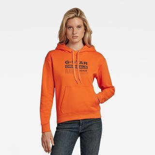 Premium Core Originals Logo Hoodie - Oranje - Dames
