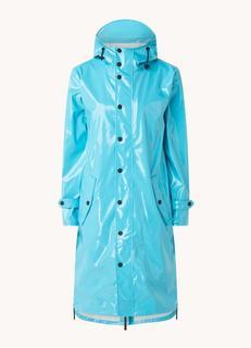 Regenjas met klepzakken en capuchon