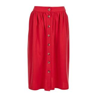 midi rok met plooien rood