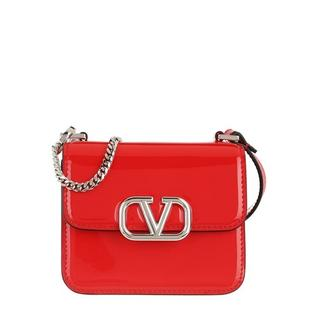 Crossbody bags - Mini Crossbody Leather in rood voor dames