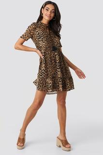 Short Sleeve Flowy Mini Dress