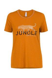 Dames T-Shirt tekst bruin