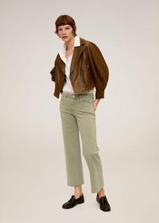 Mid-rise culotte-jeans