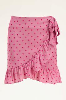 Roze overslagrok met stipjes