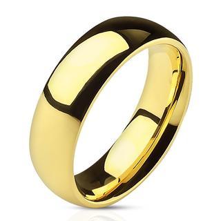 Florid - Glimmende gouden dames en heren ring van titanium