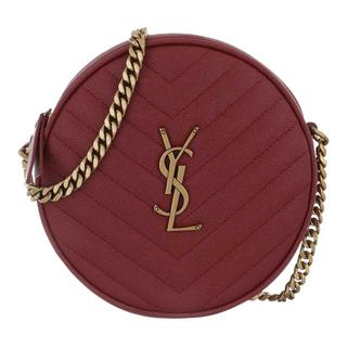 Cross Body Bags - Vinyle Round Camera Bag Leather Opyum Red in rood voor dames