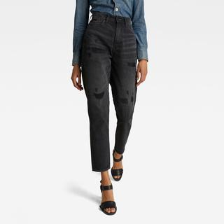 Janeh Ultra High Mom Ankle Jeans - Straight Fit - Taillehoogte Ultrahoog