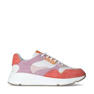 suède dad sneakers roze/multi