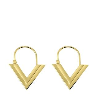 Goldplated oorbellen V