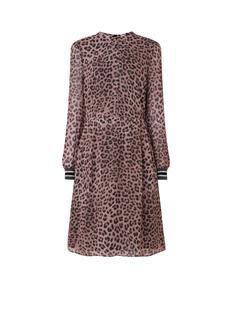 Midi jurk met luipaard print