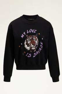 Zwarte sweater tijger
