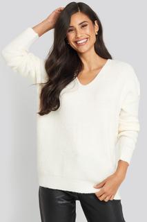 Oversized V Neck Knitted Sweater