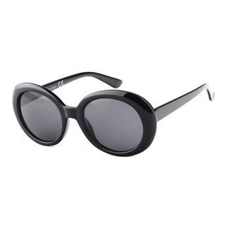 Zwarte zonnebril met ronde donkere glazen