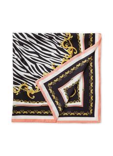 Sjaal van zijde met dessin 90 x 90 cm