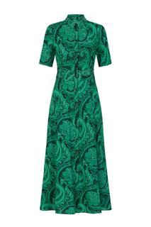 Dames Jurk paisley groen