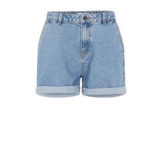 high waist jeans short OBJPENNY light blue denim