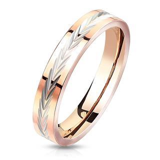 Arrow - Roségouden dames ring met pijltjesmotief
