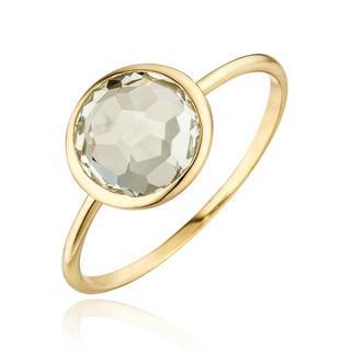 Ringen - Ring 14K Green Amethyst in goud voor dames