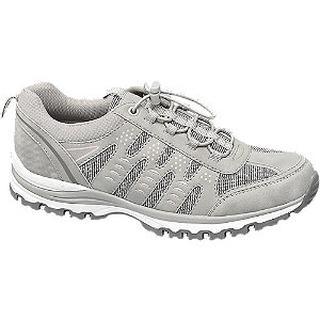 Lichtgrijze wandelschoen elastiek