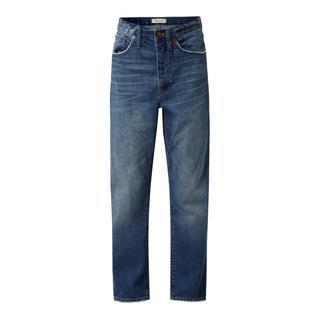 Boyfriend fit jeans van katoen