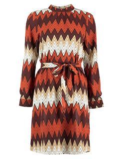 Onlnova Lux Aop Highneck Belt Dress 15191101 Blousejurk Nova 15191101