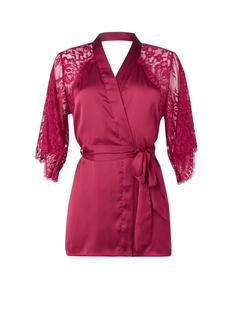 Jennifer kimono van satijn met kant