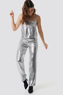 Sparkle Striped Flared Pants