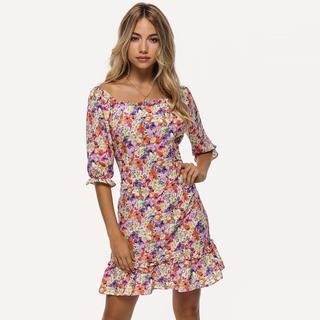 bloemen print jurk