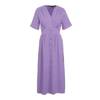 maxi jurk met plooien paars