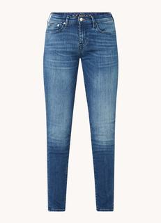 Sharp low waist skinny fit cropped jeans met medium wassing