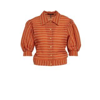 gestreepte blouse roodbruin
