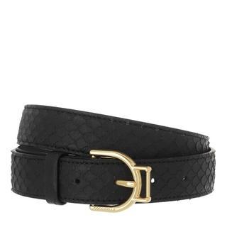 - Arlettis Buckle Python Lulula Belt in zwart voor dames