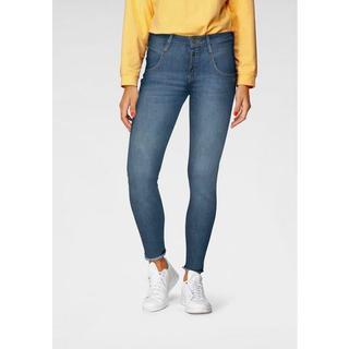 ankle jeans Medina met iets gerafelde rand bij de zoomrand