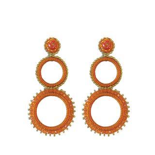 Trilogia Earrings - Orange